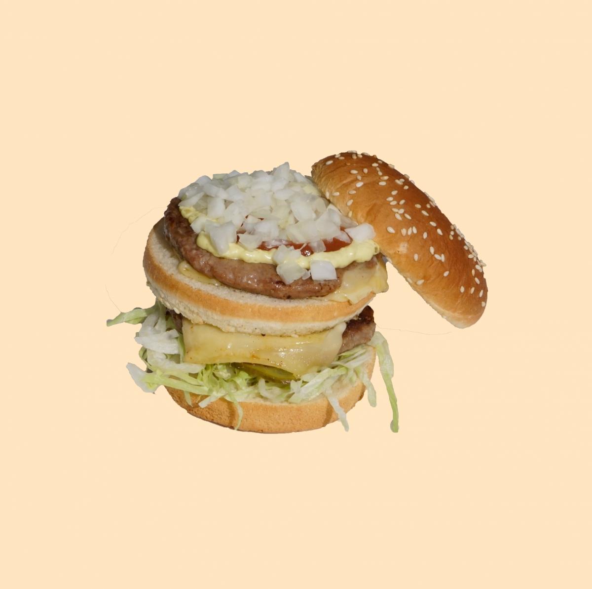Dubbel burger cheese
