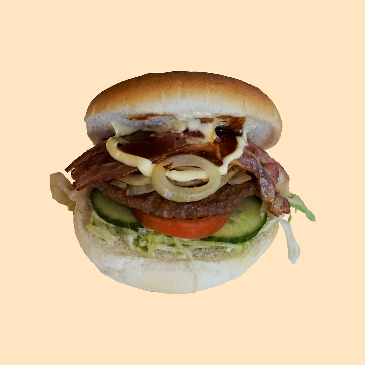 Broodje hamburger ui/bacon