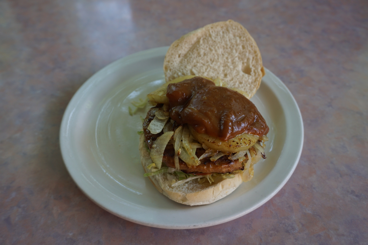 Broodje Hamburger Hawai