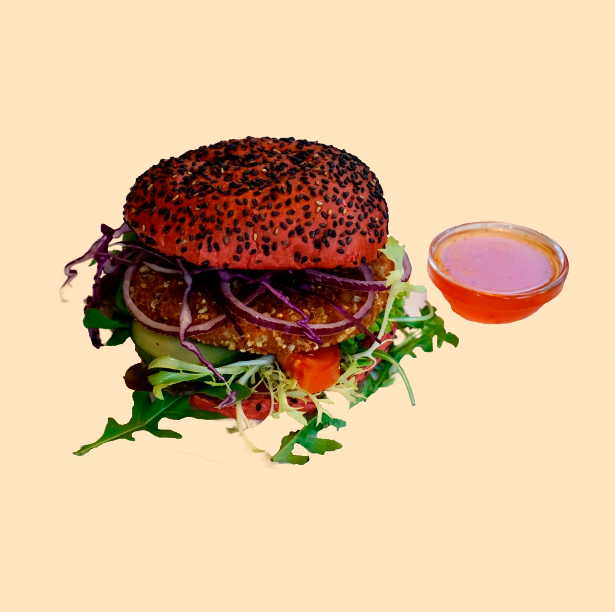 Vegetarische Avocado burger