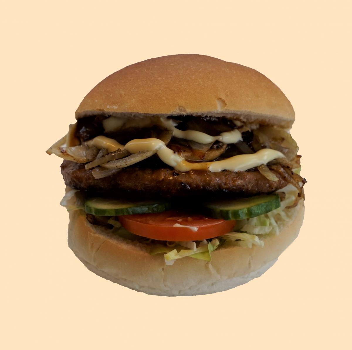 Broodje hamburger ui/champ.